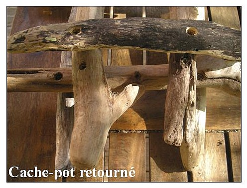 un tutoriel pour fabriquer un cache pot en bois flott. Black Bedroom Furniture Sets. Home Design Ideas