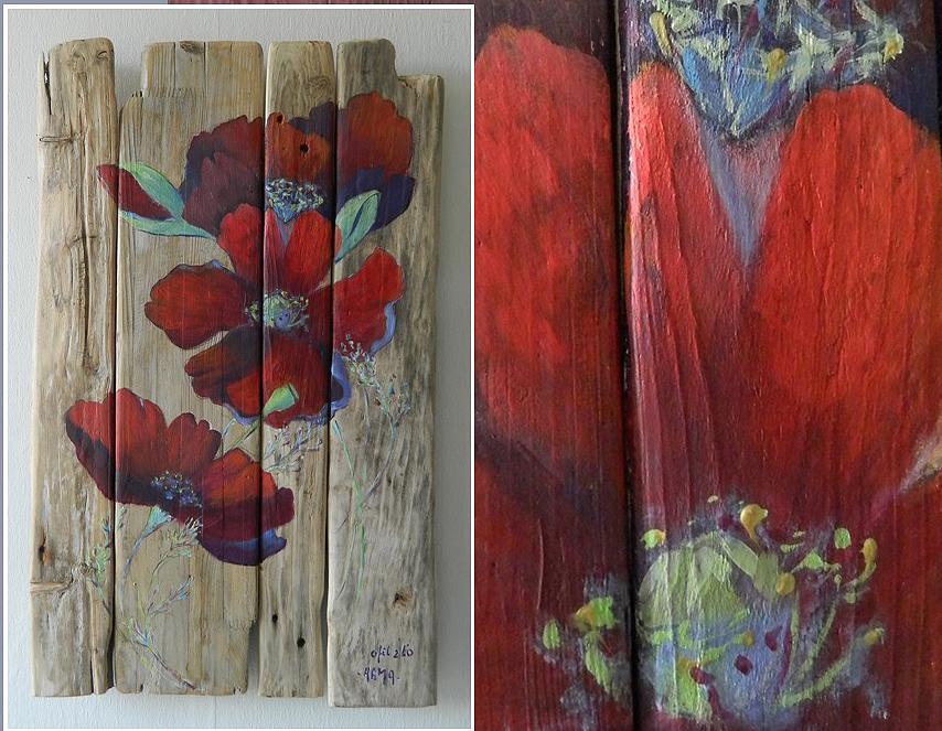 Vente de tableaux en bois flott boutique au fil de l 39 eau for Peinture cerusee sur bois