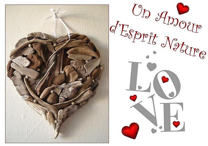 Un coeur en bois flott au fil de l 39 eau bois flott - Objet deco en bois flotte ...