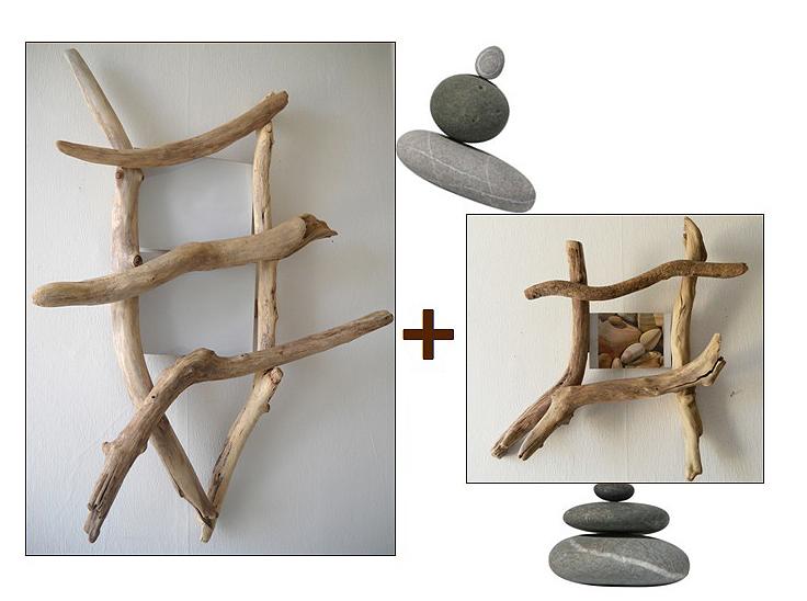 duo cadre chelle et cadre photo au fil de l 39 eau. Black Bedroom Furniture Sets. Home Design Ideas