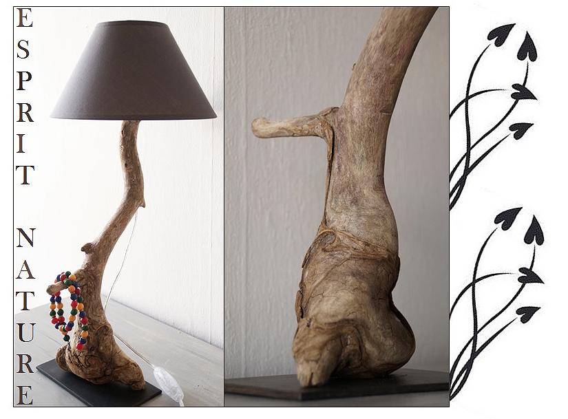Souvent Lampe de chevet N°38 | | Au fil de l'eau - Bois flotté LP93