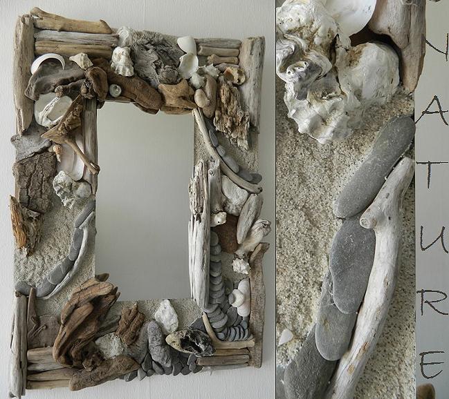 Miroirs en bois flott cr ations au fil de l 39 eau for Rue du bois flotte