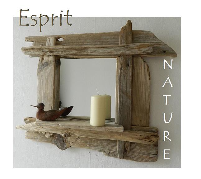 Miroirs en bois flott cr ations au fil de l 39 eau for Miroir en bois flotte pas cher