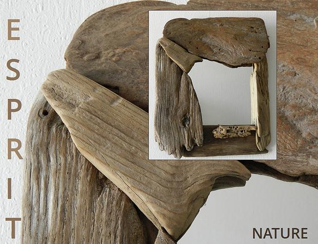 Un miroir style p le m le de bois flott au fil de for Comment faire un miroir