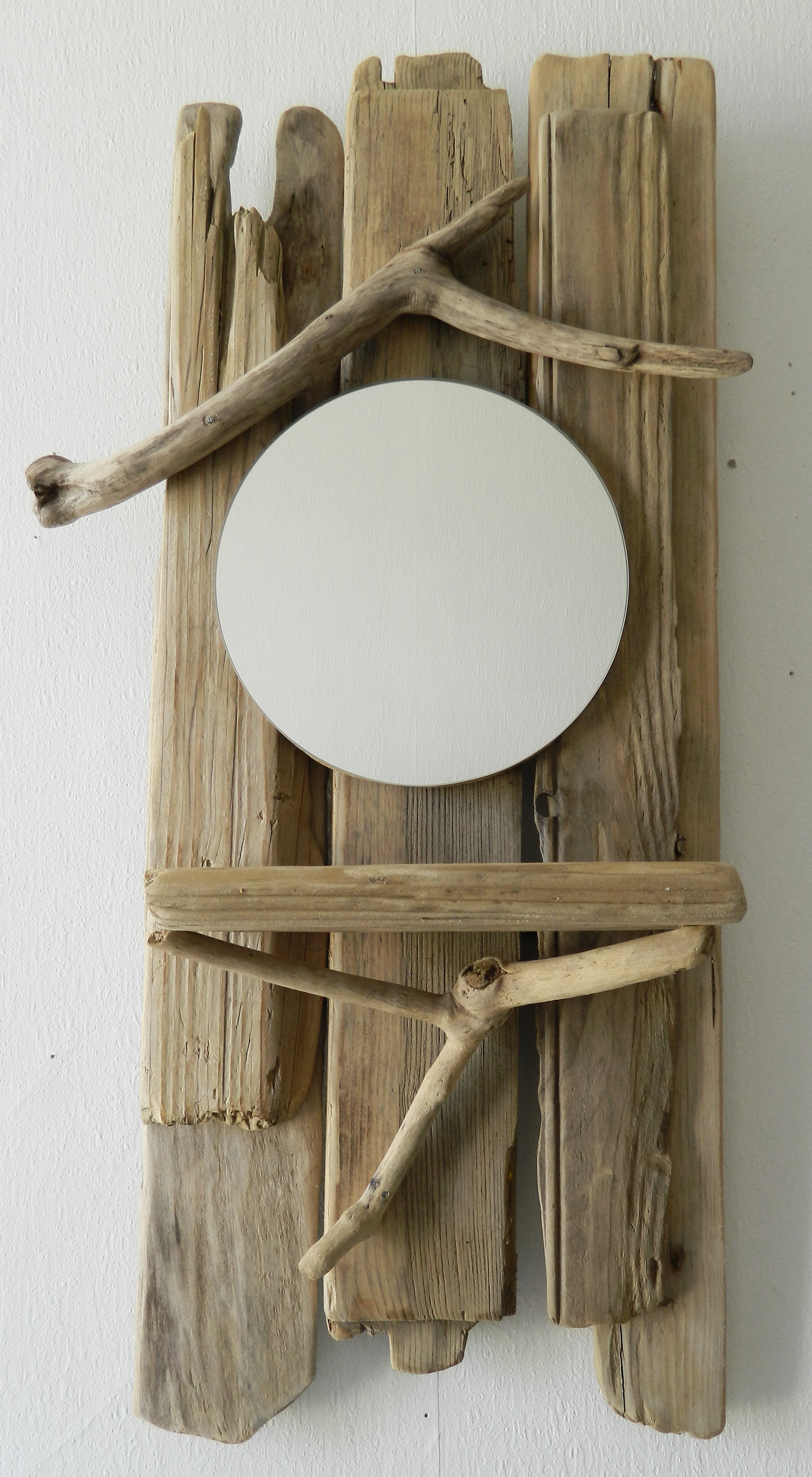 Miroir n 36 au fil de l 39 eau bois flott for Miroir etroit