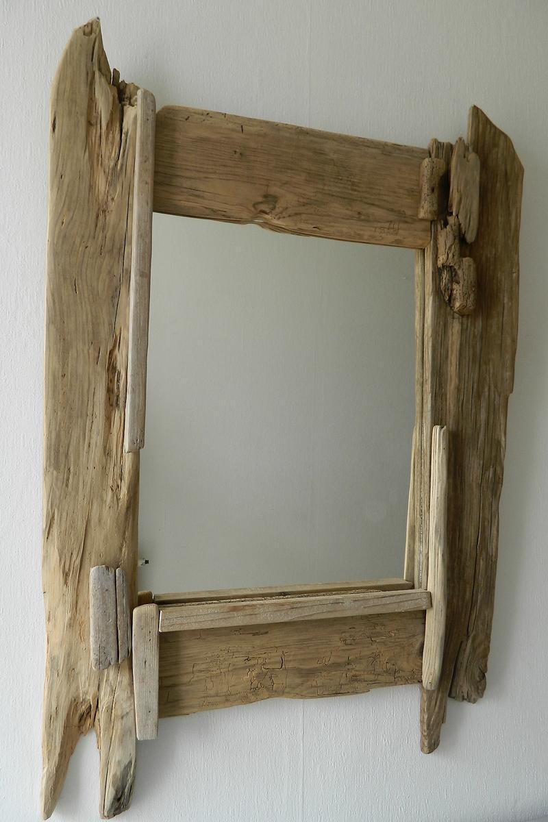 Miroir n 49 au fil de l 39 eau bois flott for Miroir de l eau