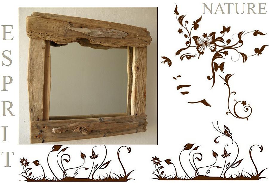 Miroir rond cadre bois maison design for Miroir rond bois