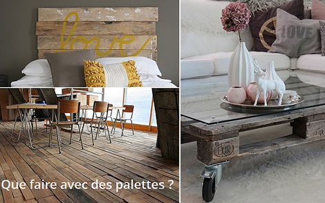 20 id es cr atives avec des palettes au fil de l 39 eau bois flott. Black Bedroom Furniture Sets. Home Design Ideas