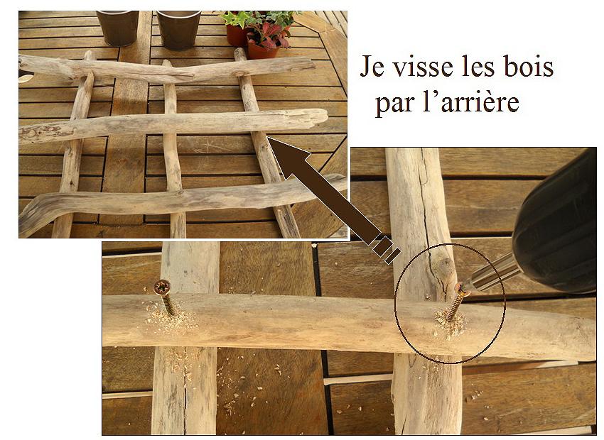 Tableau végétal en bois flotté  Au fil de l'eau Bois flotté # Comment Travailler Le Bois Flotté