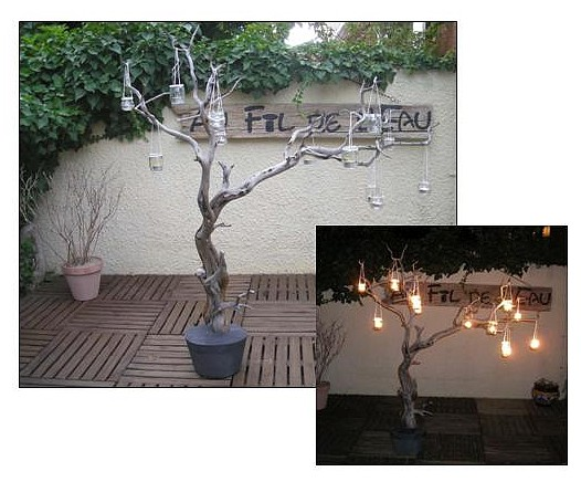 fabriquer un arbre lumineux avec le tutoriel au fil de l 39 eau. Black Bedroom Furniture Sets. Home Design Ideas