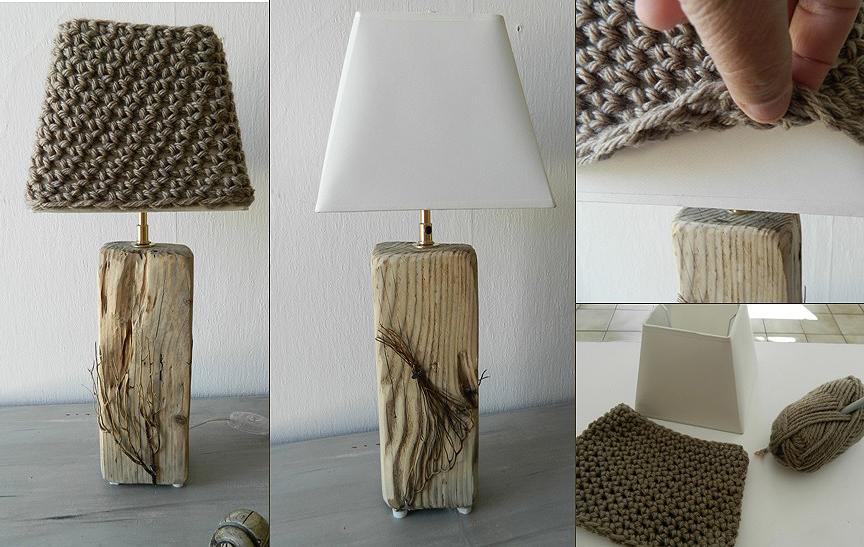 Relative Lampes en bois flotté - Créations Au fil de l'eau IF11